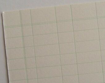 Ledger paper letterpress printed postcard