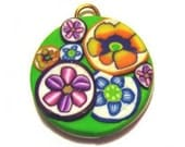 Round Bouquet Pet ID Tag