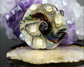 GemsInBloom  Organic Lentil Focal Lampwork Bead