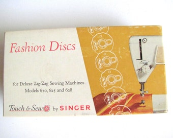 SALE Singer Machine Parts, Box of Singer Touch & Sew 12, Decorative Stitch Disk CAMS