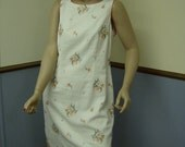 1960's Cotton Summer Shift  Size 14