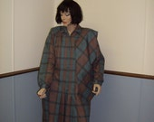 1970's Plaid dress  Size 16