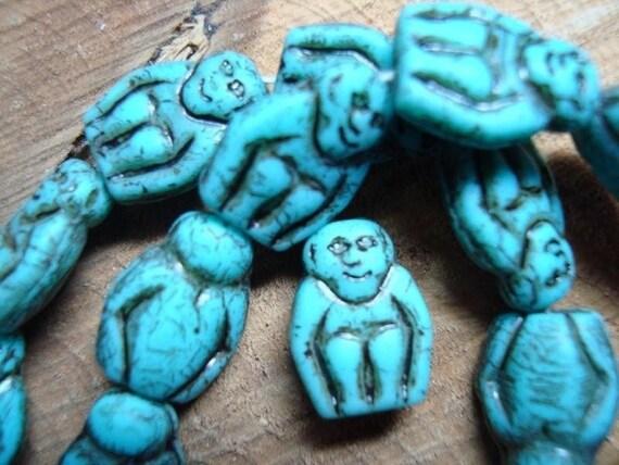 25 glass MONKEY beads (free shipping)