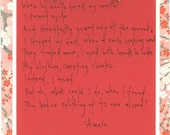 Handwritten Poem for Your Sweetheart