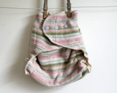 Sweet Striped Easter Egg, one size, Snap On wool diaper cover, two full layers