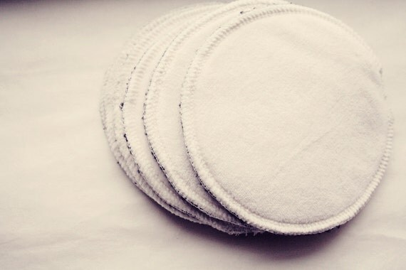 READY TO SHIP Set of three pairs of nursing pads, the best nursing pads ever, wool, hemp fleece, and bamboo velour