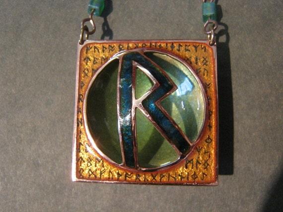 Champleve Enamel Rune Portals: The Travelers Rune