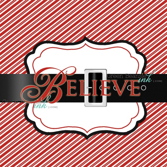 CHRISTMAS BELIEVE Printable Party Backdrop by GreenBeansieInk