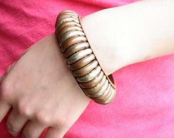 Welded Vintage Copper and Brass Bangle