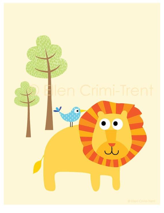 Art Print-  Nursery Decor-lion