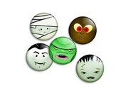 Classic Horror Pin Collection - 5 x 1 inch button badges