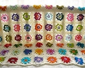 Colorful Flowery Blanket - Pink - Red - Orange - Purple - Green - Yellow - Lilac - Blue