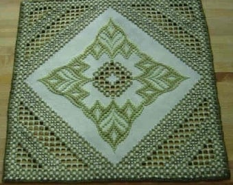 Hardanger and Bargello Centerpiece