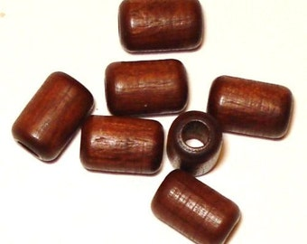 6x9mm Cylinder Tube Wood Beads Wooden Beads (35) Brown