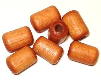 6x9mm Cylinder Tube Wood Beads Wooden Beads (35) Tan
