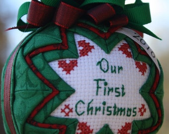 Our First Christmas Ornament / Personalized/ Dated