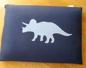 Blue Triceratops Laptop Sleeve - 13-inch Macbook Pro or CUSTOM SIZE