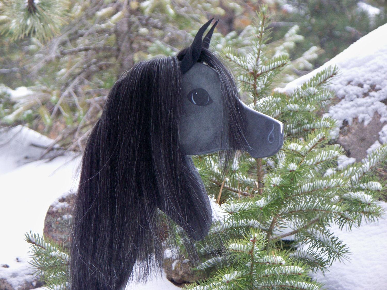 Black Horse With White Blaze