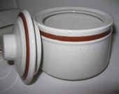Vintage 70s Retro Stoneware / Butter Dish / Sugar Bowl / Made in Japan / Stoneware Set