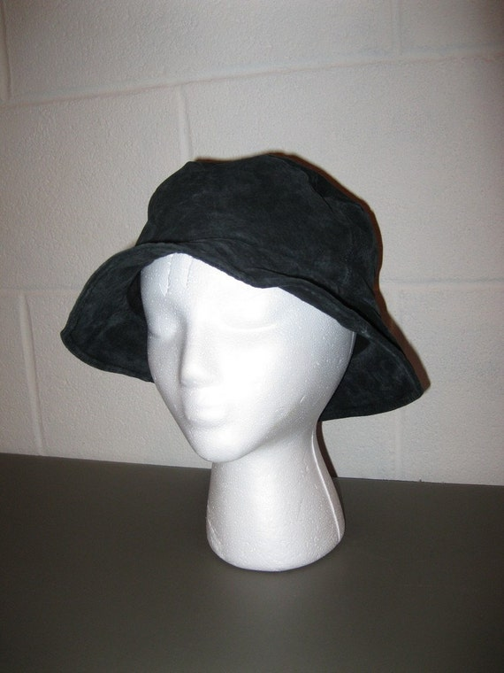 Suede Leather Floppy Pioneer Hat 20