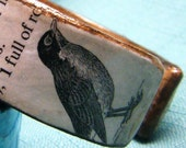 Rockin' Robin - Recycled Paper and Cardboard Cuff Bracelet