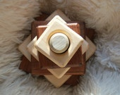 Wood Stacker Toy and Teether Set, Wooden Stacking and Teething Toy  ORGANIC, Natural, NON TOXIC, Earth Friendly