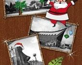 Winter Wonderland Tiki Holiday Card - One Card with Envelope