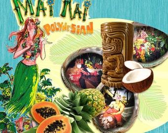 Tiki Print - Polynesian Feast