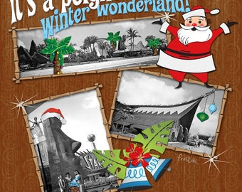 Tiki Print - Winter Wonderland