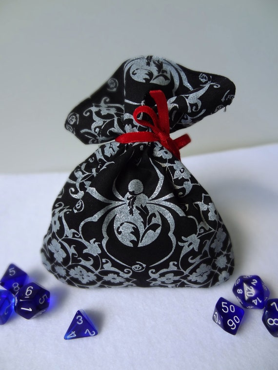 Black Widow Dice Bag with Zipper