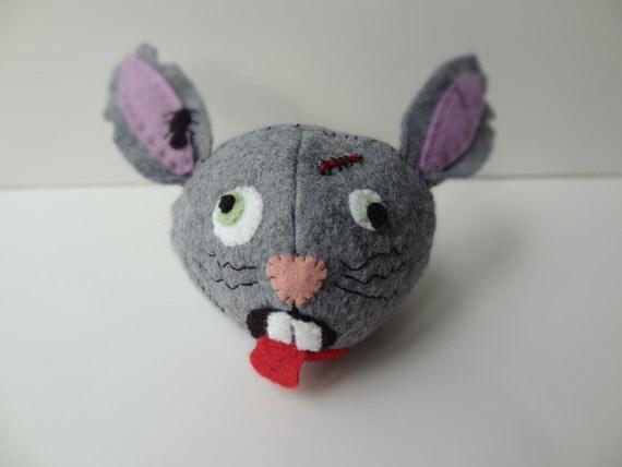 Scooter-The Zombie Bunny Head Pin Cushion