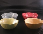 Four Handbuilt Bowls
