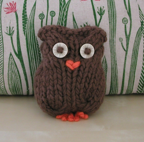 PDF Knitting Pattern Brown Owl and Friends