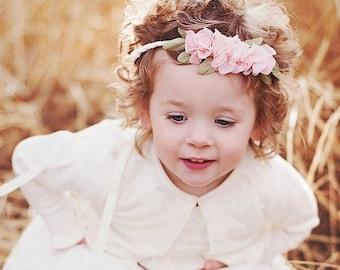 Rustic flowergirl crown  - Halo Flower Girl -  Wedding flowergirl crown tiara - comes in 5 colors - little girl headband
