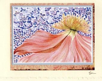 Peach Flower Notecard