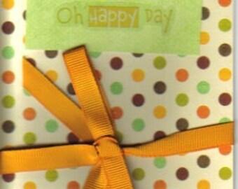 Handmade Oh Happy Day Greeting Card