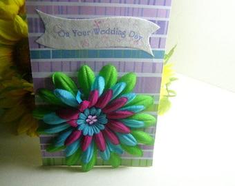 Handmade On Your Wedding Day Greeting Card