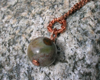 Copper and Jasper Necklace, The Earth, She Really Does Love You