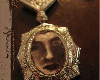 SALE LILITH  cameo necklace - illustrated jewelry
