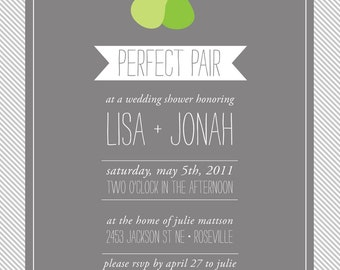 Perfect Pair - Custom Couples Shower Invitation Bridal Shower