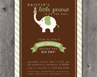 Little Peanut - Custom Baby Shower Invitation