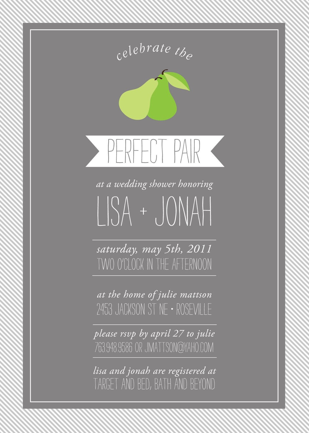 Perfect pair custom couples shower invitation bridal shower for Custom wedding shower invitations
