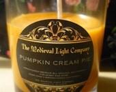 Pumpkin Cream Votive Candle in Glass Cup -  Premium Soy Wax
