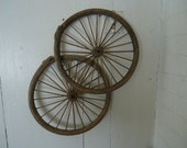 Antique Baby Buggy-Carriage-2  WOOD STROLLER WHEELS       (20)