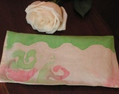 Lavender Flax Eye Pillow- Handpainted Silk