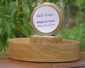 Natural Shave Set with Rustic Wood Bowl