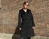 Black Persian Lamb Coat, luxurious faux fur coat