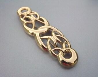Givenchy Brooch, Designer Large Brooch, Signed Jewelry, Bold Jewelry, Gold Jewelry, Costume Jewelry