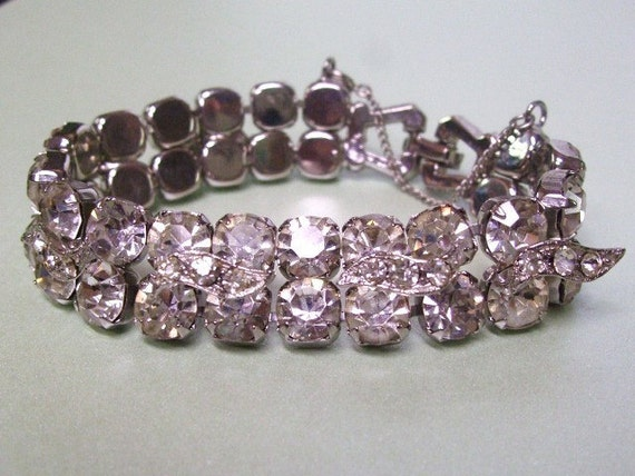 Rhinestone Bracelet Eisenberg Pave Icing Vintage Jewelry