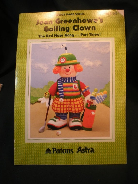 Jean Greenhowe's Golfing Clown - Super-Cute Gift For Your Golfer Friend - SALE